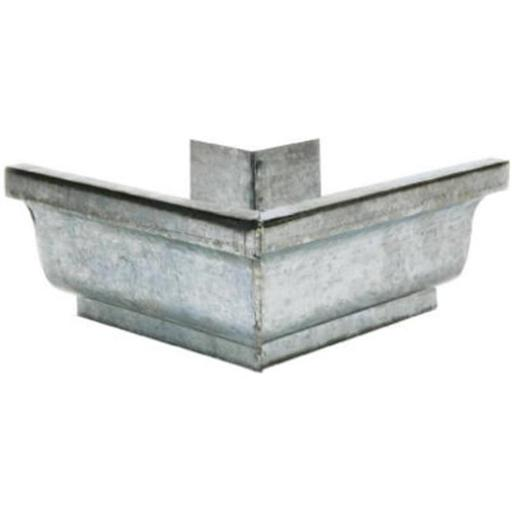 Amerimax Home Products 15202 Gutter Outside Mitre, Mill Finish Galvanized Steel - 4 in