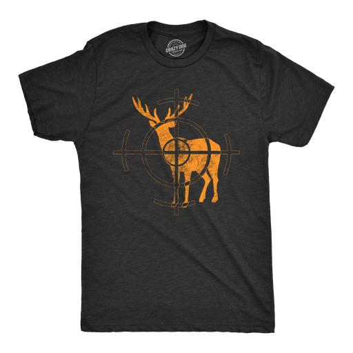 Mens Deer Target Tshirt Funny Shooting Hunting Tee For Guys