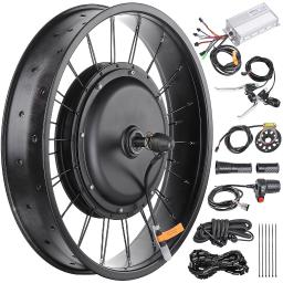 """20"""" 48V 1000W Electric Bicycle Front Wheel 470RPM E-Bike Conversion Kit Speed Throttle"""