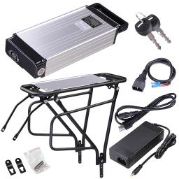48V 14AH Lithium Battery Water Bottle Type w/ Holder Charger For 48V 1000W Electric Bicycle