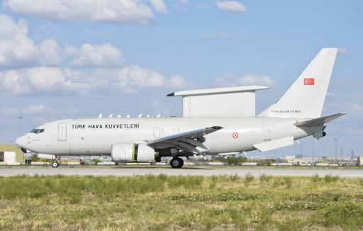 Turkish Air Force E-7 AWACS aircraft during Exercise Anatolian Eagle 2016. Poster Print by Giovanni Colla/Stocktrek Images