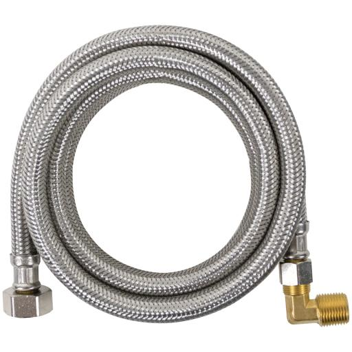 Certified Appliance Accessories Braided Dishwasher Connector with Elbow 4Ft. Did you know that the hot water hose to your dishwasher should be replaced every 5 years? This Braided Stainless Steel Dishwasher Connector with Elbow from Certified Appliance Accessories is 4 ft. long. The hose is very durable and resists punctures, crimping or kinking—even in tight spaces.