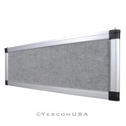 Gray Trade Show Display System Optional Header Panel Board Aluminum Frame Logo