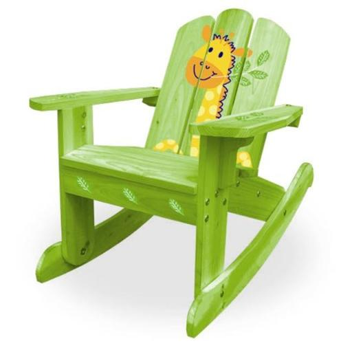ODM Products Ltd. MM20611 Lohasrus Kids Rocking Chair in Green Safari- MM20611