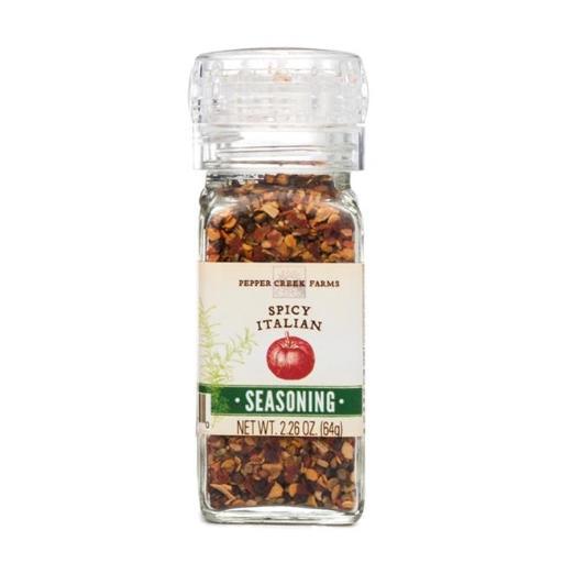 Pepper Creek Farms 600A-GR4 Spicy Italian Seasoning With Grinder - Pack of 6