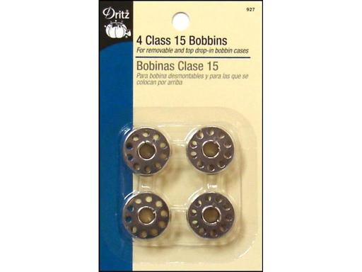 Dri927 dritz metal bobbins class 15 4pc Dritz Sewing Machine Bobbin Metal Class 15 4pc- Fits Singer Class 15 models and most other sewing machines with a removable bobbin case