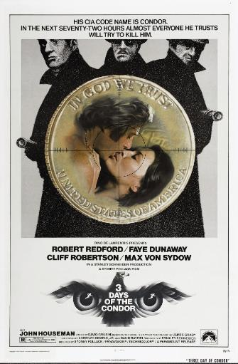 Three Days Of The Condor U.S. Poster From Left: Robert Redford Faye Dunaway 1975 Movie Poster Masterprint MWR0G0FDSDNJWLDO