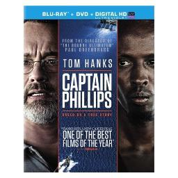 Captain phillips (blu-ray/dvd combo/ultraviolet/ws 2.40/2 disc/dd5.1) BR41781