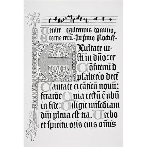 Posterazzi DPI1860826LARGE Copy of A Page From A Psalter of 1459 Printed In Mainz by Johann Fust & Petrus Schoiffer Poster Print, 22 x 34