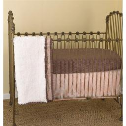 Cotton Tale NG8S Nightingale 8 Pieces Crib Bedding Set - Pink & Gray