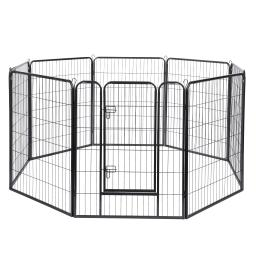 "Yescom 8 Pieces 31""x39"" Pet Playpen Extra Large Dog Exercise Fence Panel Crate Camping"
