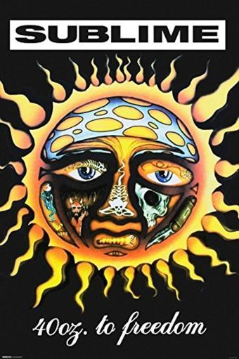 Sublime 40 Oz To Freedom Poster 36 x 24 Bradley Nowell Ounces Ska Punk Reggae