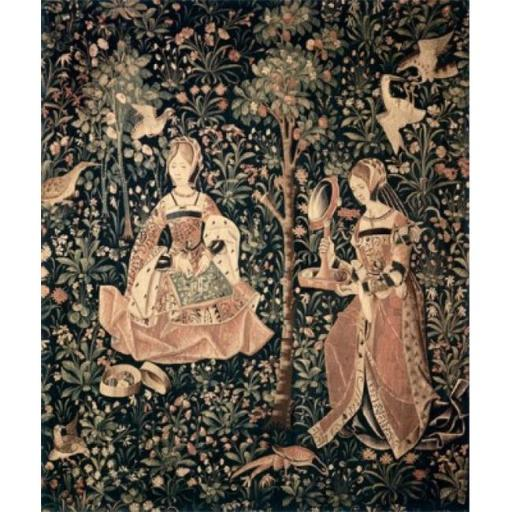 Posterazzi SAL9005267 Princess & Her Lady in Waiting Tapestry Textiles Poster Print - 18 x 24 in.