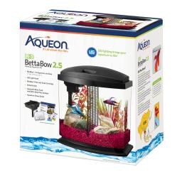 Aqueon 100528789 black aqueon bettabow led aquarium kit 2.5 gallon black 11.5 x 7.63 x 12.5