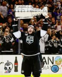 Drew Doughty with the Stanley Cup Game 5 of the 2014 NHL Stanley Cup Finals Photo Print PFSAARA07701