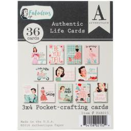 "Fabulous Authentic Life Cards 3""X4"" Pocket Crafting & Journaling Cards"