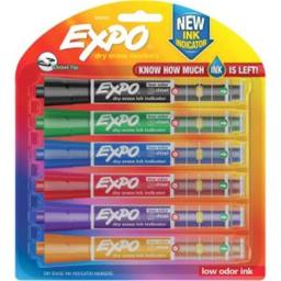 Sanford Ink 1946767 Dry Erase Marker Chisel Point Style, Assorted Color- Set of 6