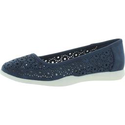 Cliffs by White Mountain Womens Polly Nubuck Perforated Flats