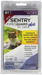 Sentry 03164 Fiproguard Plus For Cats & Kittens Topical Flea & Tick Treatment, 1.5 Lbs