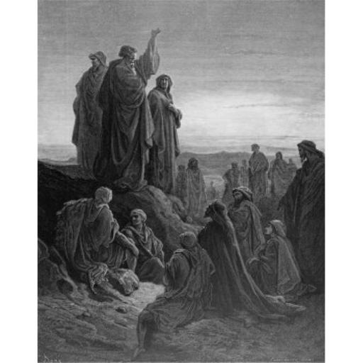 Posterazzi SAL995103179 Peters Sermon Gustave Dore 1832-1883 French Engraving Poster Print - 18 x 24 in.