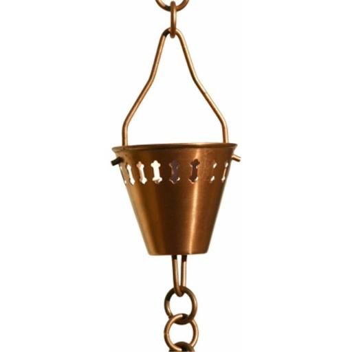 Patina Products 8.5ft. Copper Shade Cup Rain Chain R279
