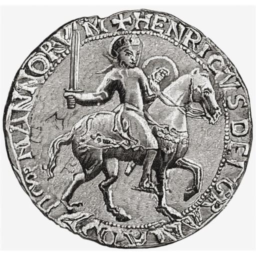 Great Seal of Henry I, C. 1068 to 1 1135 King of England From The Book Short History of The English People by J.R. Green Published London 1893 Poster