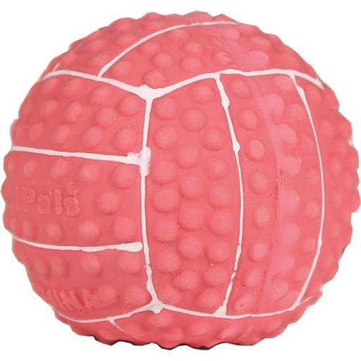 COASTAL PET PRODUCTS LI'L PALS LATEX VOLLEYBALL DOG TOY 2 IN PINK/WHITE VVNRYQRMXY4KRNLY