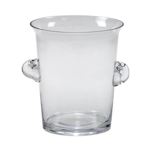 Creative Gifts International 004110 8.5 in. Clear Glass Ice Bucket