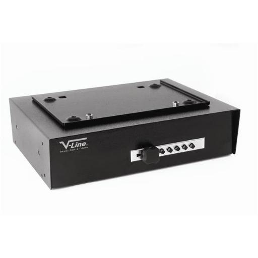 V-Line 3912-S BLK Hide Away Keyless Security System for Valubles and Firearms - Black