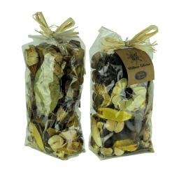 Double Bag Lot of Saffron Yellow and Brown Dried Botanical Decorative Filler