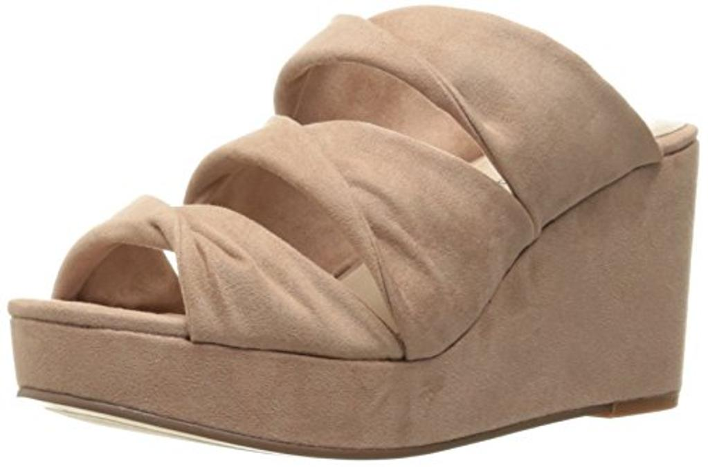 Chinese Laundry Women's Carlie Wedge Slide Sandal, Rose Suede,  7.5 M US