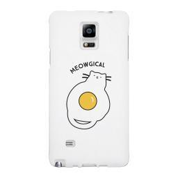 Meowgical Cat And Fried Egg White Phone Case
