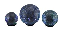 3 Piece Color Changing LED Mercury Indoor Glass Gazing Ball Set