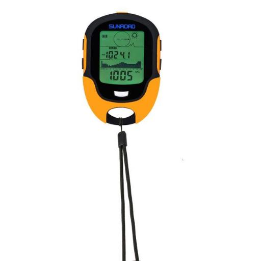Military Digital Altimeter Barometer Watch Thermometer, Orange
