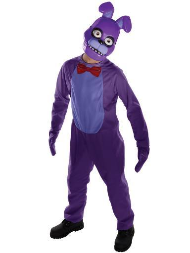 Bonnie Child Costume Five Nights At Freddy's Jumpsuit, Mitts and Mask Horror