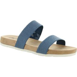 Cliffs by White Mountain Womens Tahlie Faux Leather Snake Slide Sandals