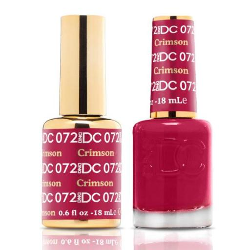 DND DC Soak Off Gel Polish + Matching Nail Polish Duo #72 Crimson