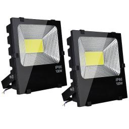 DELight ® 2 PCS 150W LED Flood Light Outdoor Security Lamp 450 Watt Equivalent