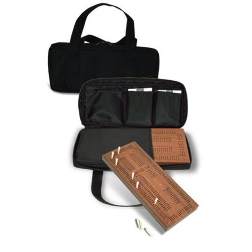 Traveling Triple Track Cribbage With Carrying Case