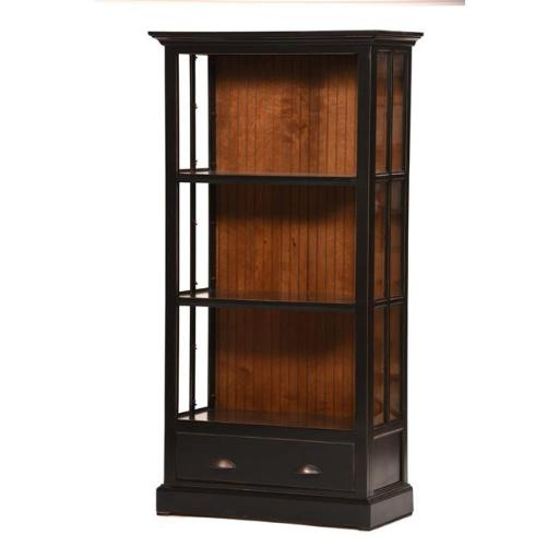 Eagle Furniture WWBC711736ASCC Concord Cherry West Winds 36 in. Open Curio Bookcase with Drawer, Autumn Sage
