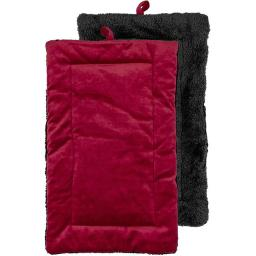 Urban Loft by Westex PCMREDSM 21 x 12 in. Non-Slip Sherpa Bottom Pet Crate Kennel Mat - Red