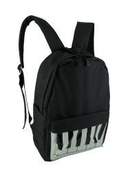 Black and White Canvas Piano Keys Backpack
