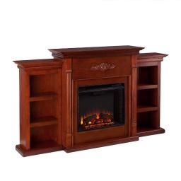 Holly and Martin Fredricksburg Electric Fireplace w/ Bookcases in Mahogany