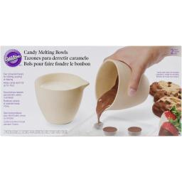 "Ceramic Candy Melting Cups & Bowls-4""X3.5"" 2/Pkg W1904-1076"
