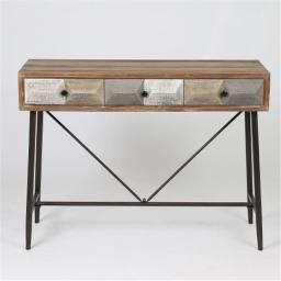 Winsome House WH197 Deco Three Drawer Console Table