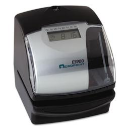 Acroprint Time Recorder 010209000 ES900 Digital Automatic 3-in-1 Machine, Silver and Black
