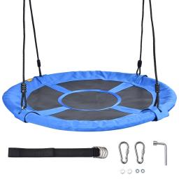 """Yescom 40"""" Saucer Tree Swing with Adjustable Straps for Kids Outdoor Playground Yard"""