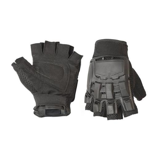Aleko PBHFG44XL-UNB Paintball Airsoft Outdoor Sports Military Tactical Half Finger Gloves, Black - Extra Large VCWHPQTXQYJSE5BP