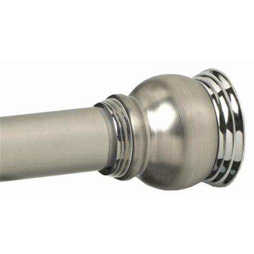Zenith Products Satin Nickel Finial Shower Rod 663NS