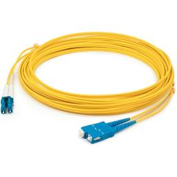 Add-on add-sc-lc-3m9smf this is a 3m lc (male) to sc (male) yellow duplex riser-rated fiber patch cable.